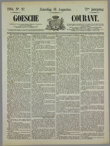 Goessche Courant 1884-08-16