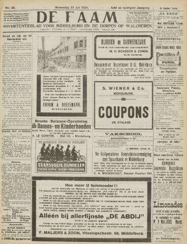 de Faam en de Faam/de Vlissinger 1924-07-23