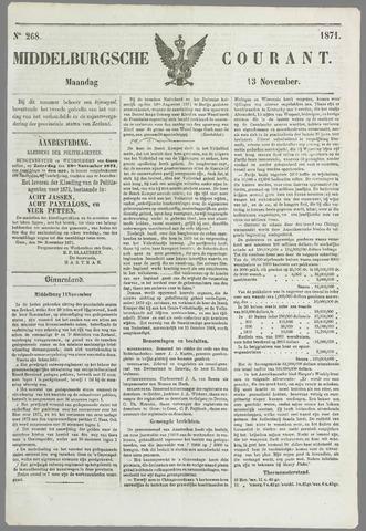 Middelburgsche Courant 1871-11-13