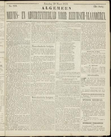 Ter Neuzensche Courant. Algemeen Nieuws- en Advertentieblad voor Zeeuwsch-Vlaanderen / Neuzensche Courant ... (idem) / (Algemeen) nieuws en advertentieblad voor Zeeuwsch-Vlaanderen 1873-03-29