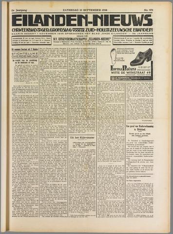 Eilanden-nieuws. Christelijk streekblad op gereformeerde grondslag 1938-09-10