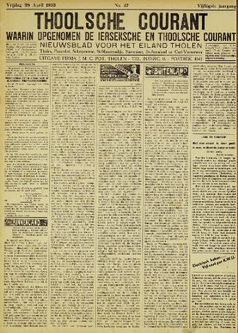 Ierseksche en Thoolsche Courant 1933-04-28
