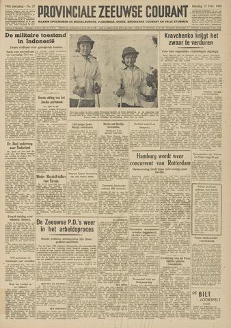 Provinciale Zeeuwse Courant 1949-02-15