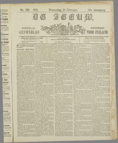 De Zeeuw. Christelijk-historisch nieuwsblad voor Zeeland 1912-02-21