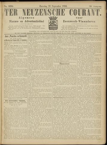 Ter Neuzensche Courant. Algemeen Nieuws- en Advertentieblad voor Zeeuwsch-Vlaanderen / Neuzensche Courant ... (idem) / (Algemeen) nieuws en advertentieblad voor Zeeuwsch-Vlaanderen 1895-09-21