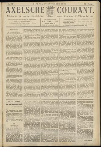 Axelsche Courant 1936-11-10