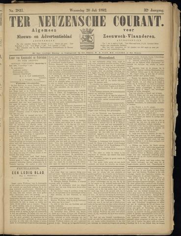 Ter Neuzensche Courant. Algemeen Nieuws- en Advertentieblad voor Zeeuwsch-Vlaanderen / Neuzensche Courant ... (idem) / (Algemeen) nieuws en advertentieblad voor Zeeuwsch-Vlaanderen 1892-07-20