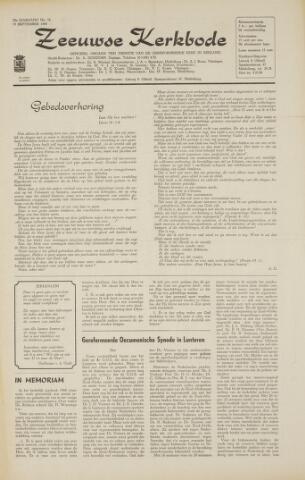 Zeeuwsche kerkbode, weekblad gewijd aan de belangen der gereformeerde kerken/ Zeeuwsch kerkblad 1968-09-19