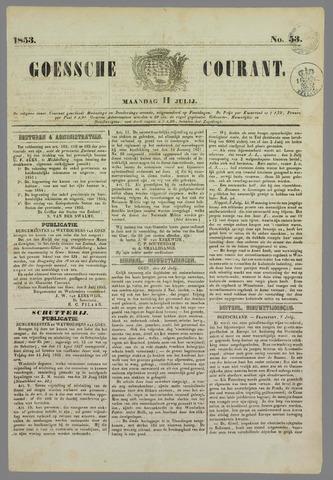Goessche Courant 1853-07-11