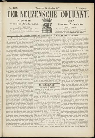 Ter Neuzensche Courant. Algemeen Nieuws- en Advertentieblad voor Zeeuwsch-Vlaanderen / Neuzensche Courant ... (idem) / (Algemeen) nieuws en advertentieblad voor Zeeuwsch-Vlaanderen 1877-10-10