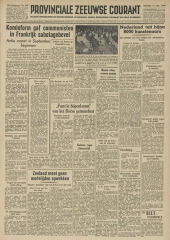 Provinciale Zeeuwse Courant 1948-10-12