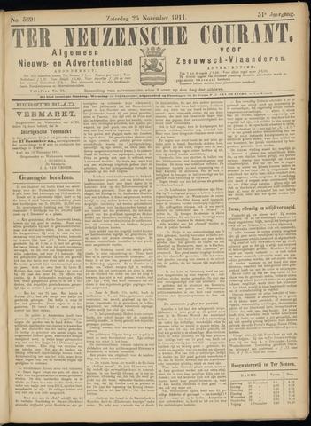Ter Neuzensche Courant. Algemeen Nieuws- en Advertentieblad voor Zeeuwsch-Vlaanderen / Neuzensche Courant ... (idem) / (Algemeen) nieuws en advertentieblad voor Zeeuwsch-Vlaanderen 1911-11-25