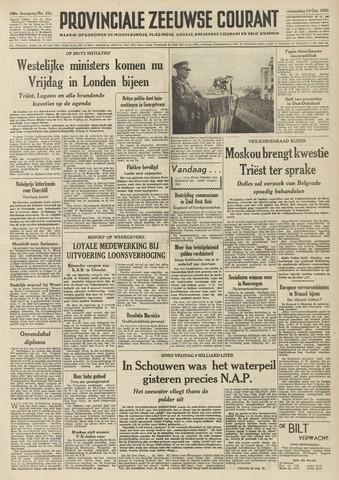Provinciale Zeeuwse Courant 1953-10-14