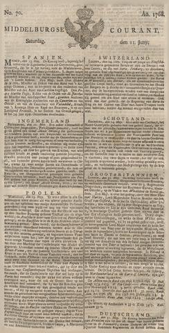 Middelburgsche Courant 1768-06-11