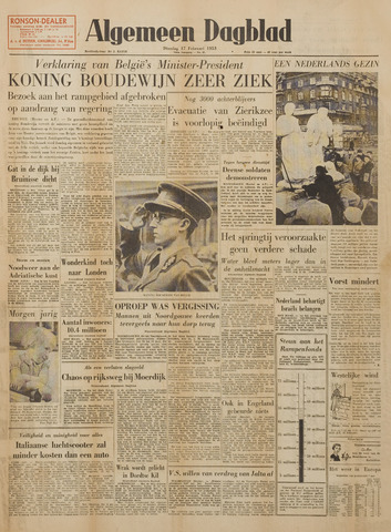 Watersnood documentatie 1953 - kranten 1953-02-17