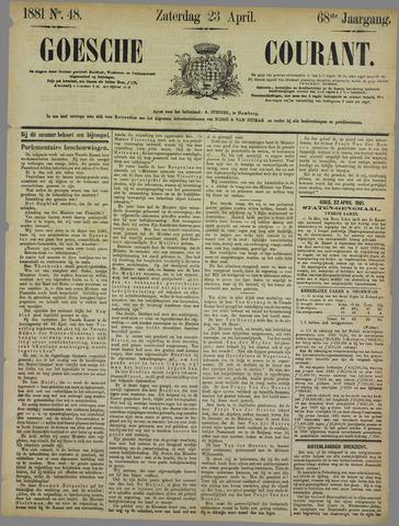 Goessche Courant 1881-04-23