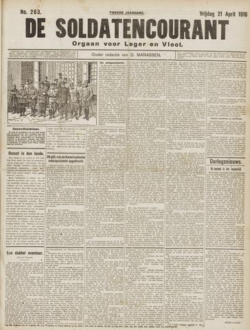De Soldatencourant. Orgaan voor Leger en Vloot 1916-04-21
