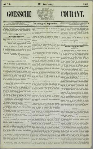 Goessche Courant 1862-09-22