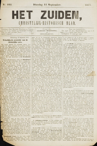 Het Zuiden, Christelijk-historisch blad 1877-09-11