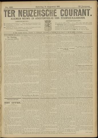 Ter Neuzensche Courant. Algemeen Nieuws- en Advertentieblad voor Zeeuwsch-Vlaanderen / Neuzensche Courant ... (idem) / (Algemeen) nieuws en advertentieblad voor Zeeuwsch-Vlaanderen 1915-08-14