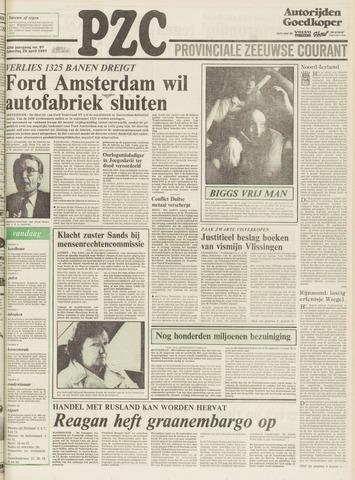 Provinciale Zeeuwse Courant 1981-04-25