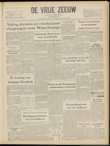 de Vrije Zeeuw 1952-02-25