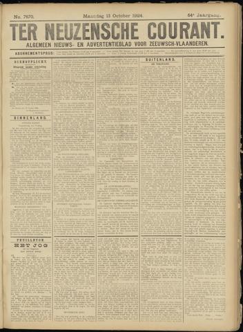 Ter Neuzensche Courant. Algemeen Nieuws- en Advertentieblad voor Zeeuwsch-Vlaanderen / Neuzensche Courant ... (idem) / (Algemeen) nieuws en advertentieblad voor Zeeuwsch-Vlaanderen 1924-10-13