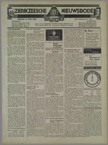 Zierikzeesche Nieuwsbode 1940-06-14