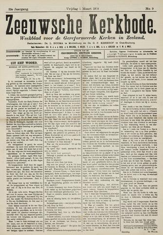 Zeeuwsche kerkbode, weekblad gewijd aan de belangen der gereformeerde kerken/ Zeeuwsch kerkblad 1918-03-01