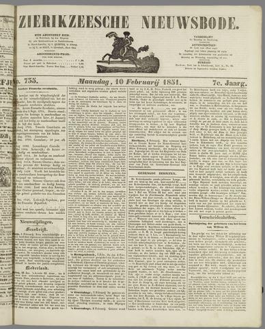 Zierikzeesche Nieuwsbode 1851-02-10