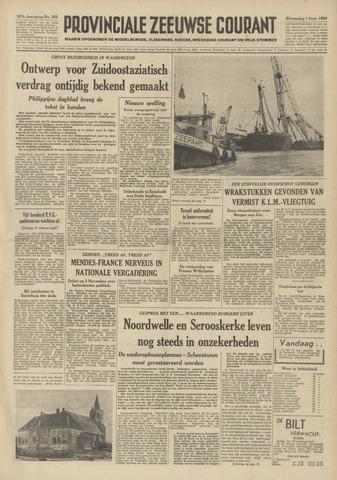 Provinciale Zeeuwse Courant 1954-09-01