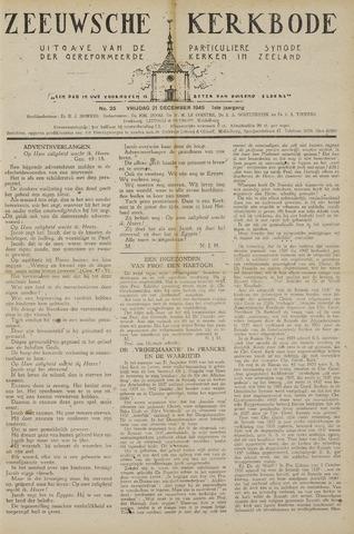 Zeeuwsche kerkbode, weekblad gewijd aan de belangen der gereformeerde kerken/ Zeeuwsch kerkblad 1945-12-21