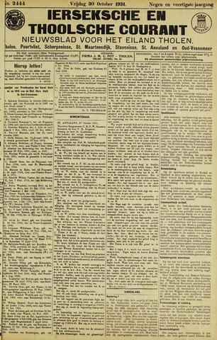 Ierseksche en Thoolsche Courant 1931-10-30