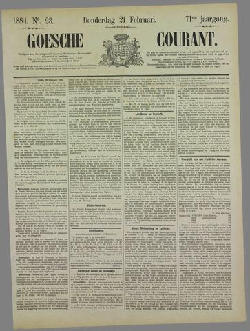 Goessche Courant 1884-02-21