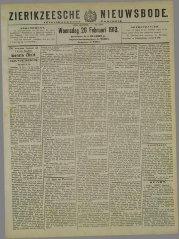 Zierikzeesche Nieuwsbode 1913-02-26