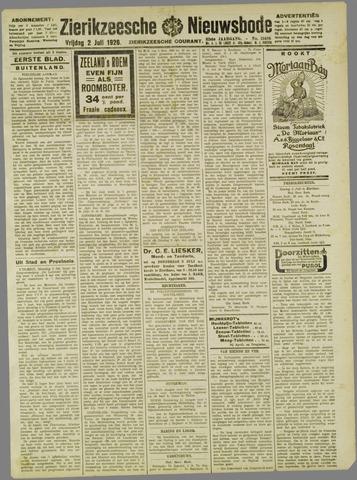 Zierikzeesche Nieuwsbode 1926-07-02