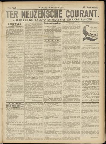 Ter Neuzensche Courant. Algemeen Nieuws- en Advertentieblad voor Zeeuwsch-Vlaanderen / Neuzensche Courant ... (idem) / (Algemeen) nieuws en advertentieblad voor Zeeuwsch-Vlaanderen 1921-10-10