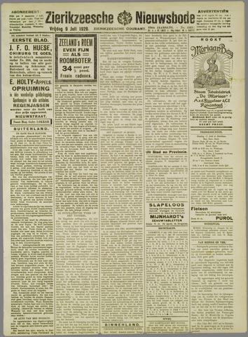 Zierikzeesche Nieuwsbode 1926-07-09