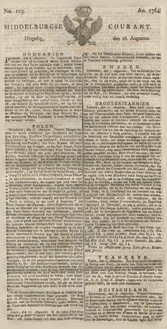 Middelburgsche Courant 1764-08-28