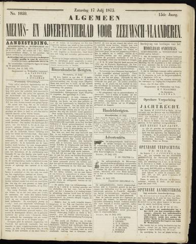 Ter Neuzensche Courant. Algemeen Nieuws- en Advertentieblad voor Zeeuwsch-Vlaanderen / Neuzensche Courant ... (idem) / (Algemeen) nieuws en advertentieblad voor Zeeuwsch-Vlaanderen 1875-07-17