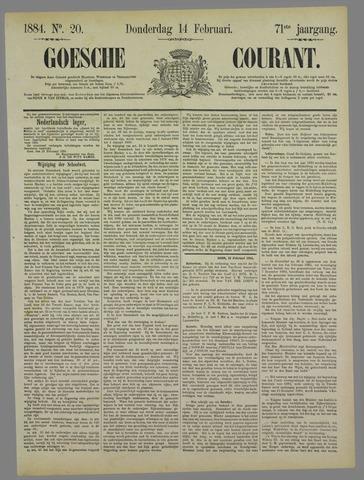 Goessche Courant 1884-02-14
