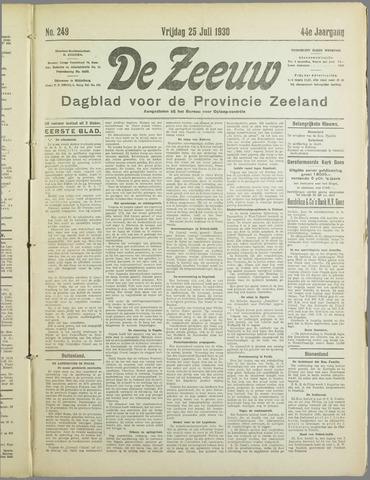 De Zeeuw. Christelijk-historisch nieuwsblad voor Zeeland 1930-07-25