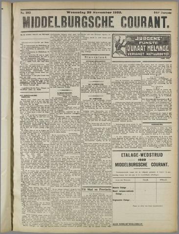 Middelburgsche Courant 1922-11-29