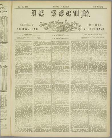 De Zeeuw. Christelijk-historisch nieuwsblad voor Zeeland 1895-11-07