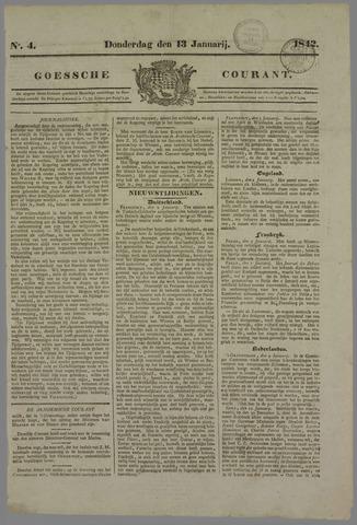 Goessche Courant 1842-01-13