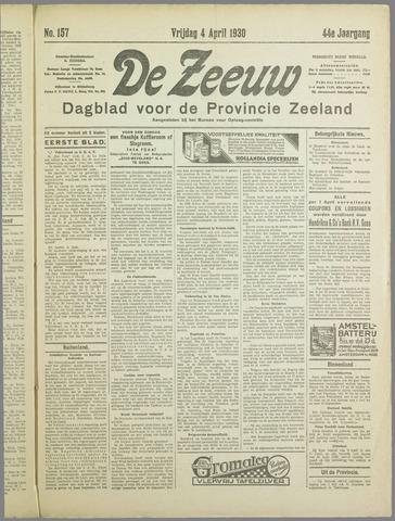 De Zeeuw. Christelijk-historisch nieuwsblad voor Zeeland 1930-04-04