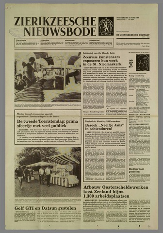 Zierikzeesche Nieuwsbode 1984-07-19