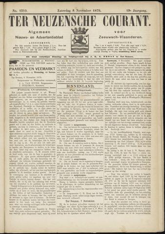 Ter Neuzensche Courant. Algemeen Nieuws- en Advertentieblad voor Zeeuwsch-Vlaanderen / Neuzensche Courant ... (idem) / (Algemeen) nieuws en advertentieblad voor Zeeuwsch-Vlaanderen 1879-11-08