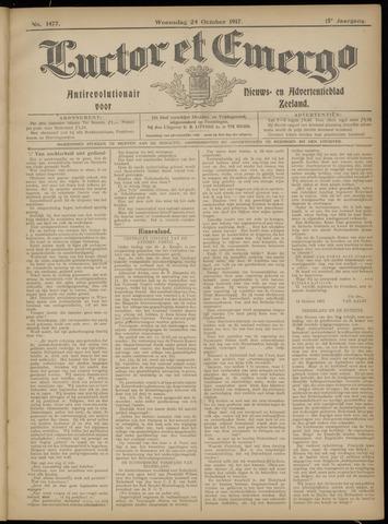 Luctor et Emergo. Antirevolutionair nieuws- en advertentieblad voor Zeeland / Zeeuwsch-Vlaanderen. Orgaan ter verspreiding van de christelijke beginselen in Zeeuwsch-Vlaanderen 1917-10-24