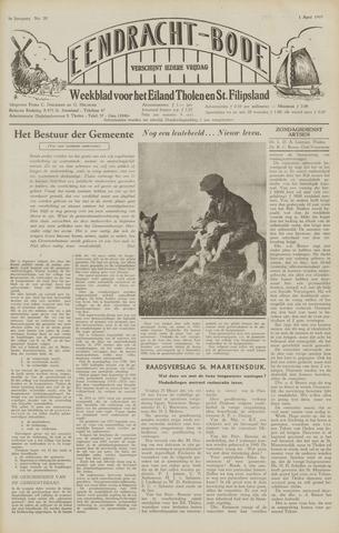 Eendrachtbode (1945-heden)/Mededeelingenblad voor het eiland Tholen (1944/45) 1949-04-01